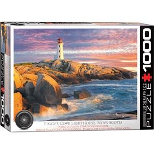 """Eurographics (6000-5437) - """"Peggy's Cove Lighthouse, Nova Scotia"""" - 1000 pièces"""