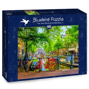 "Bluebird Puzzle (70211) - ""Red Bike in Amsterdam"" - 1000 pièces"