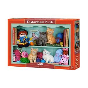 """Castorland (B-53377) - """"Kitten Shelves"""" - 500 pièces"""