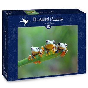 "Bluebird Puzzle (70294) - ""Friendly Frogs"" - 500 pièces"