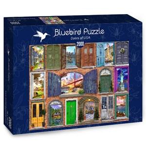 "Bluebird Puzzle (70116) - Dominic Davison: ""Doors of USA"" - 2000 pièces"
