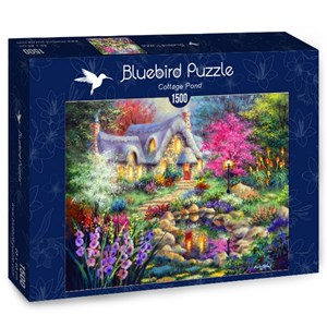 "Bluebird Puzzle (70060) - Nicky Boehme: ""Cottage Pond"" - 1500 pièces"