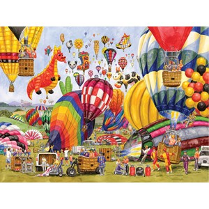 "SunsOut (52406) - Gale Pitt: ""Balloon Landing"" - 1000 pièces"