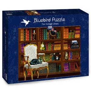 "Bluebird Puzzle (70225) - ""The Vintage Library"" - 1000 pièces"