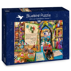 "Bluebird Puzzle (70242) - Aimee Stewart: ""Life is an Open Book Venice"" - 1000 pièces"