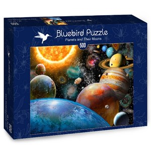 """Bluebird Puzzle (70110) - Adrian Chesterman: """"Planets and Their Moons"""" - 500 pièces"""