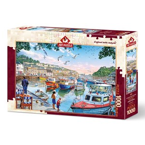 """Art Puzzle (4231) - """"The Little Fishermen at the Harbour"""" - 1000 pièces"""