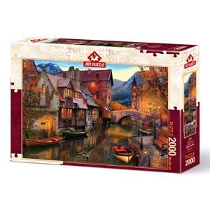 "Art Puzzle (5476) - ""Canal Homes"" - 2000 pièces"