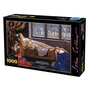 """Art Puzzle (73822) - John Collier: """"The Sleeping Beauty"""" - 1000 pièces"""