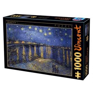 """D-Toys (66916) - Vincent van Gogh: """"Nuit Etoilée sur le Rhône"""" - 1000 pièces"""