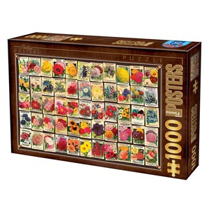 """D-Toys (74492) - """"Fleurs"""" - 1000 pièces"""