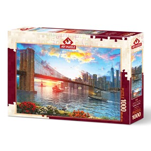 "Art Puzzle (5185) - ""Sunset on New York"" - 1000 pièces"