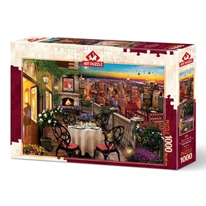 """Art Puzzle (5184) - """"Dinner at New York"""" - 1000 pièces"""