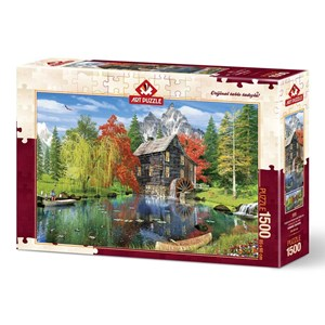 """Art Puzzle (4550) - """"Fishing by the Mill"""" - 1500 pièces"""