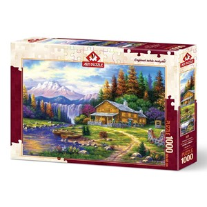 """Art Puzzle (4230) - """"Sunset on the Mountains"""" - 1000 pièces"""