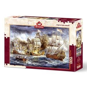 """Art Puzzle (4549) - """"Guerre Navale"""" - 1500 pièces"""