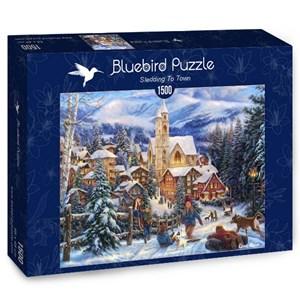 "Bluebird Puzzle (70053) - Chuck Pinson: ""Sledding To Town"" - 1500 pièces"