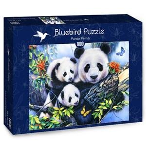 "Bluebird Puzzle (70079) - ""Panda Family"" - 1000 pièces"