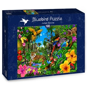"Bluebird Puzzle (70150) - ""Jungle Sunrise"" - 1500 pièces"