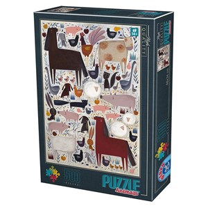 "D-Toys (74348) - Kurti Andrea: ""Farm Animals"" - 500 pièces"