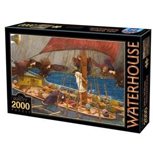 """D-Toys (72917-WA01) - John William Waterhouse: """"Ulysse et les Sirènes, 1891"""" - 2000 pièces"""