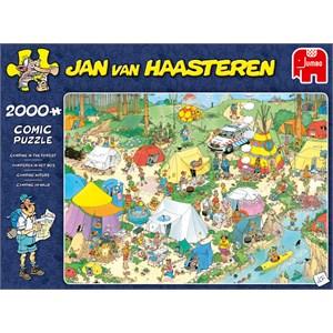 "Jumbo (19087) - Jan van Haasteren: ""Camping in the Forest"" - 2000 pièces"