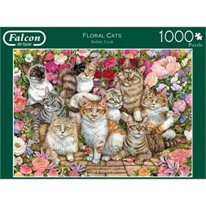 """Falcon (11246) - """"Floral Cats"""" - 1000 pièces"""