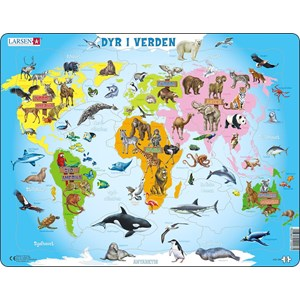 "Larsen (A34-DK) - ""Animals of the World - DK"" - 28 pièces"