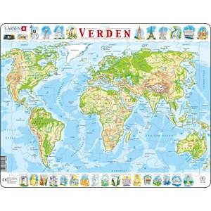 "Larsen (K4-DK) - ""The World Physical Map - DK"" - 80 pièces"