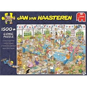 """Jumbo (19077) - Jan van Haasteren: """"Clash of the Bakers"""" - 1500 pièces"""