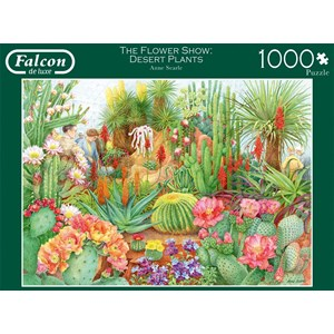 "Falcon (11254) - Anne Searle: ""The Flower Show, Desert Plants"" - 1000 pièces"