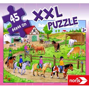 "Noris (606031790) - ""Holidays on The Ponyhof"" - 45 pièces"