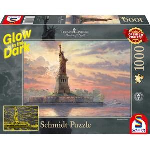"""Schmidt Spiele (59498) - Thomas Kinkade: """"Statue of Liberty"""" - 1000 pièces"""