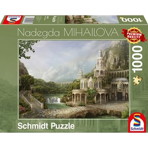 "Schmidt Spiele (59611) - Nadegda Mihailova: ""Palais in The Mountains"" - 1000 pièces"