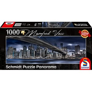 "Schmidt Spiele (59621) - Manfred Voss: ""New York, Dark Night"" - 1000 pièces"