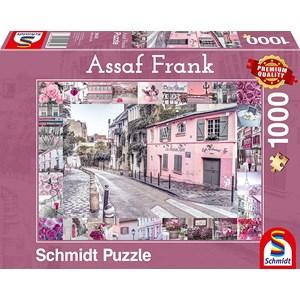 """Schmidt Spiele (59630) - Assaf Frank: """"Romantic Travel"""" - 1000 pièces"""
