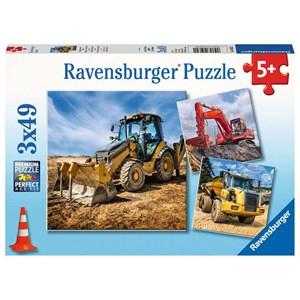 """Ravensburger (05032) - """"Véhicules de Construction en Service"""" - 49 pièces"""