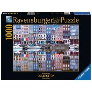 """Ravensburger (19867) - William Carr: """"Reflets sur le Port de Honfleur"""" - 1000 pièces"""
