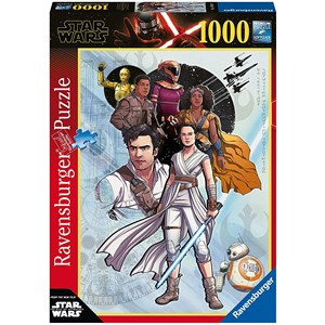 "Ravensburger (14991) - ""Star Wars IX, The Rise of Skywalker"" - 1000 pièces"