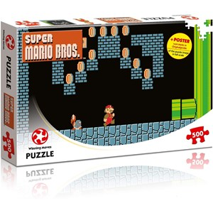 "Winning Moves Games (WIN11491) - ""Super Mario Bros., Underground Adventures"" - 500 pièces"