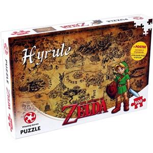 """Winning Moves Games (29490) - """"The Legend of Zelda, Hyrule"""" - 500 pièces"""
