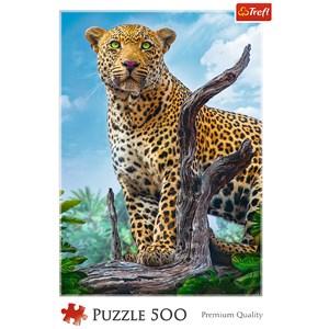 "Trefl (37332) - ""Wild Leopard"" - 500 pièces"