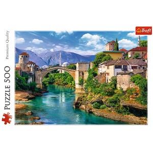 "Trefl (37333) - ""Vieux Pont à Mostar, Bosnie Herzégovine"" - 500 pièces"