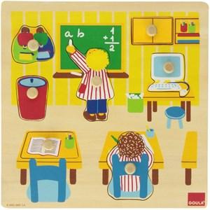 "Goula (53035) - ""School Wooden Peg"" - 7 pièces"