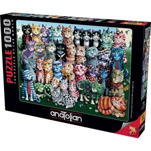 """Anatolian (1030) - Laura Seeley: """"Cat Family Reunion"""" - 1000 pièces"""