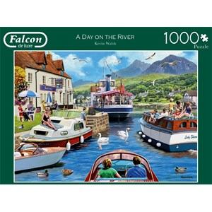 """Falcon (11241) - Kevin Walsh: """"A Day on The River"""" - 1000 pièces"""