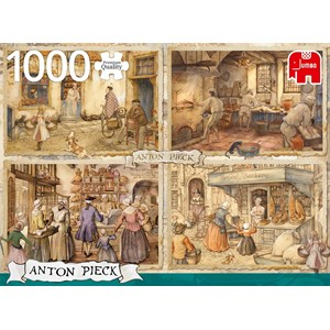 """Jumbo (18818) - Anton Pieck: """"Bakers from 19th"""" - 1000 pièces"""