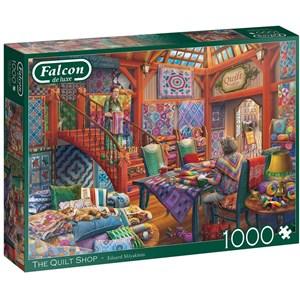"""Falcon (11285) - Eduard Shlyakhtin: """"The Quilt Shop"""" - 1000 pièces"""