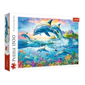 "Trefl (26162) - ""Dolphin Family"" - 1500 pièces"