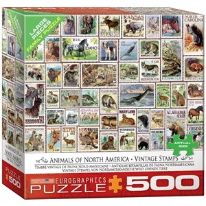"""Eurographics (8500-5359) - """"Animals of North America, Vintage Stamps"""" - 500 pièces"""